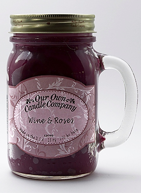 Our Own Candle Company Wine & Roses Büyük Mum Renkli